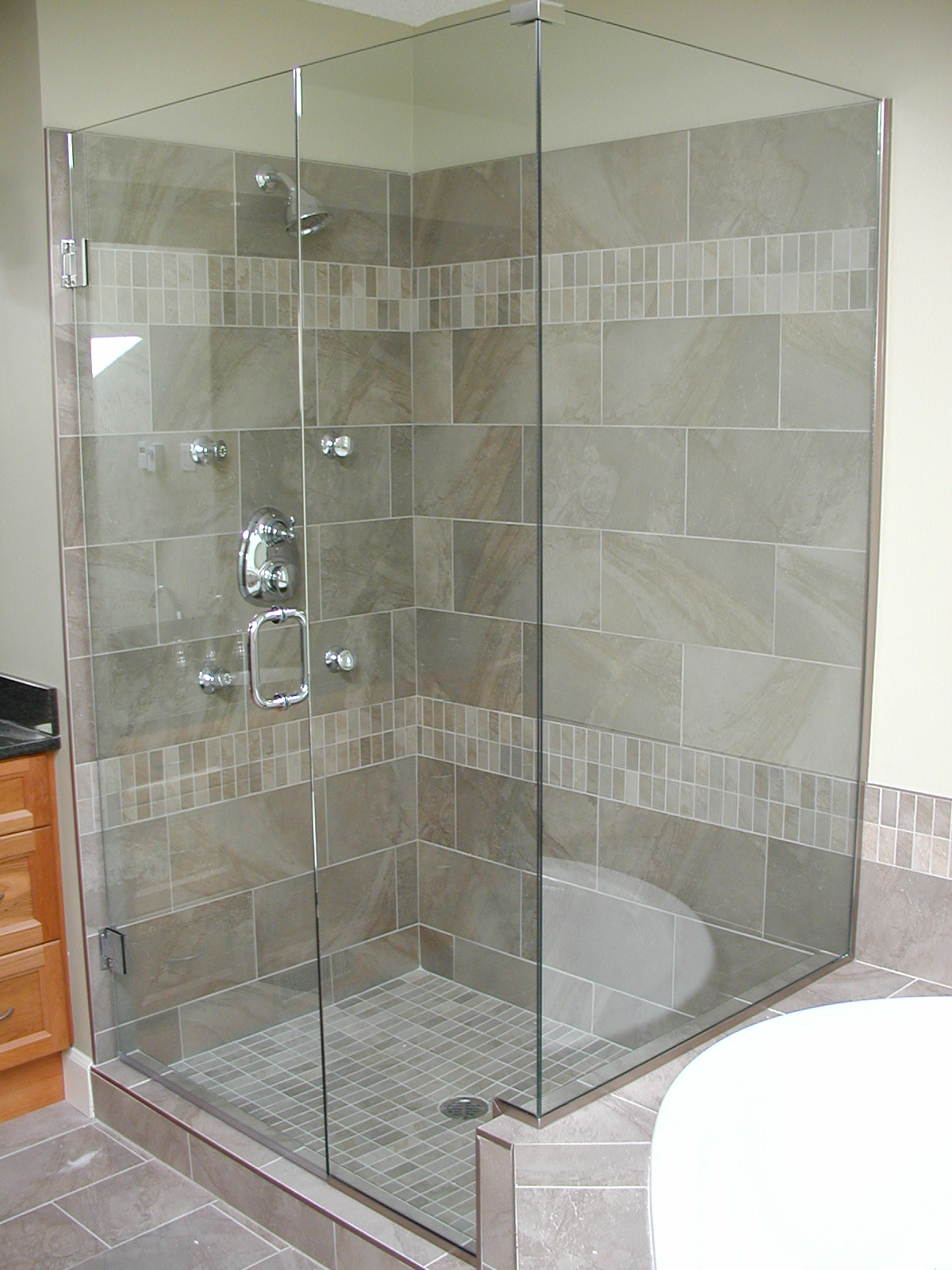 shower enclosures showers windshield services glass airdrie frameless