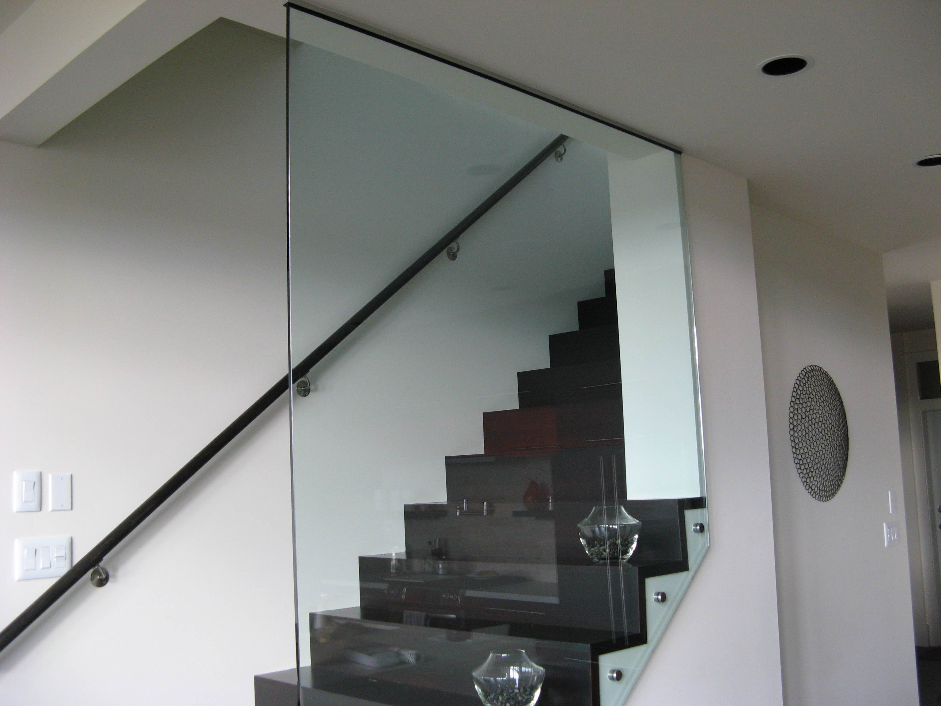 Stair Rail with 12mm Glass