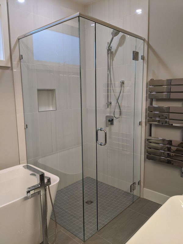 how to clean a glass shower
